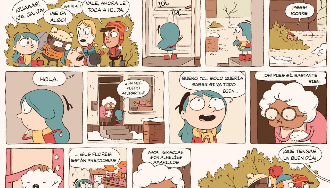 HILDA Y LA CABALGATA DEL PÁJARO Por Luke Pearson